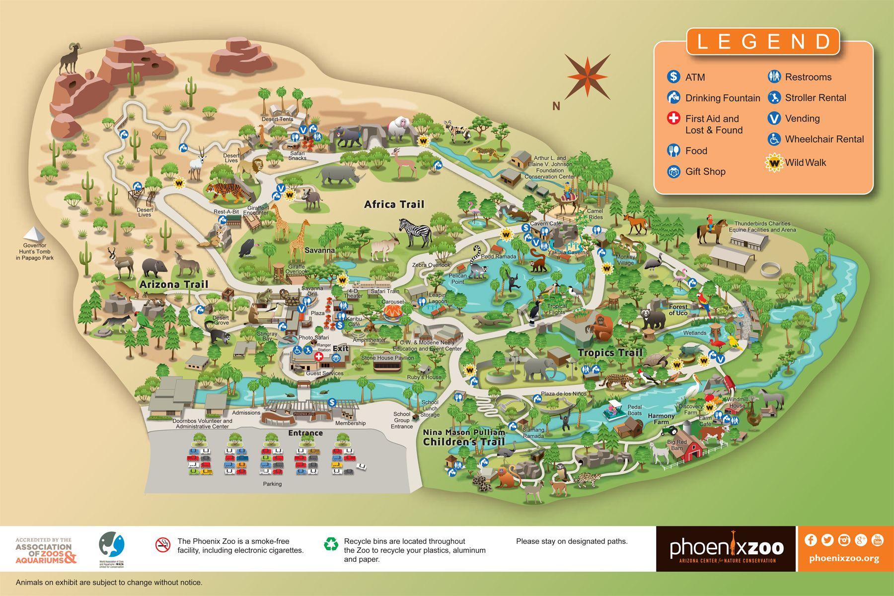 phoenix zoo map